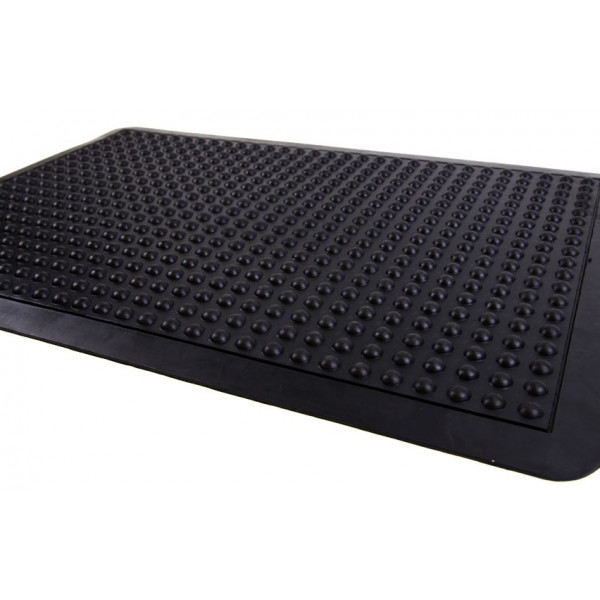Air-Bubble/Anti-Fatigue Rubber Mat With Safety Edging