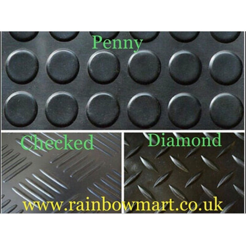 Rubber Flooring Garage/Van/Horse box- Sheeting Matting Rolls 1.2M Wide X 3MM And 10mm THICKNESS