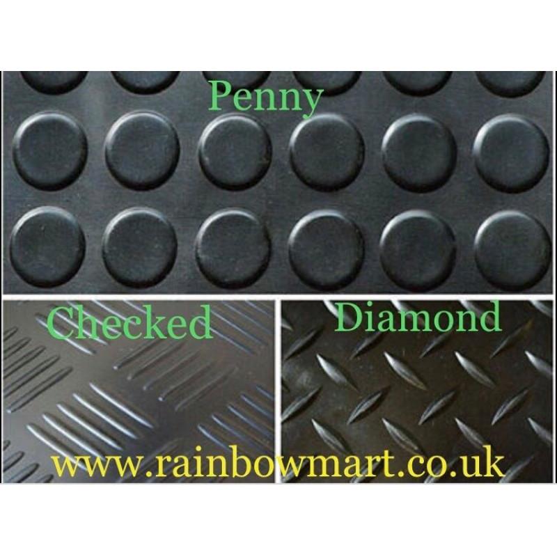 Rubber Flooring Garage/Van/Horse box- Sheeting Matting Rolls 1.2M Wide X 3MM And 10mm THICKNESS