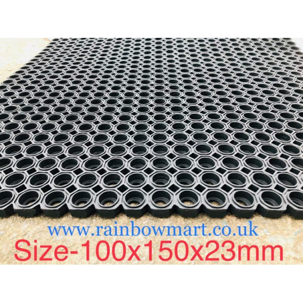 HEXAGON Premium Hollow Rubber MAT 1x1.5mx23mm, 17.5kg