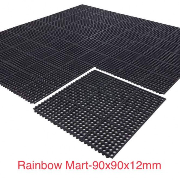 Rubber Safety Mat for Restaurant 90x90cmx12mm
